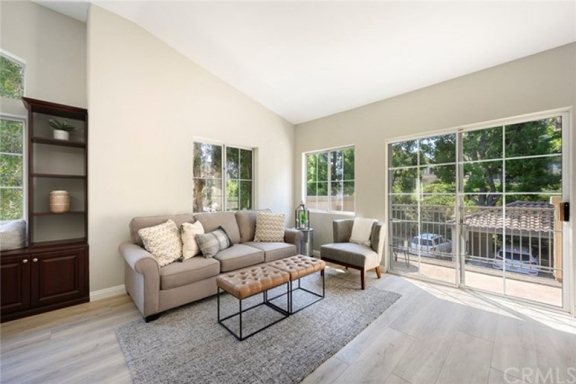 Living Room has great views of trees and has a private feel to the home!