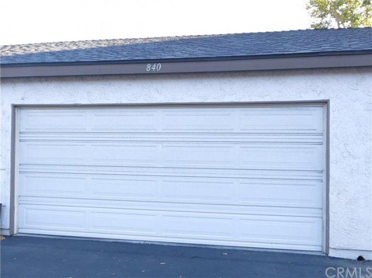 Private 2 car attached garage!
