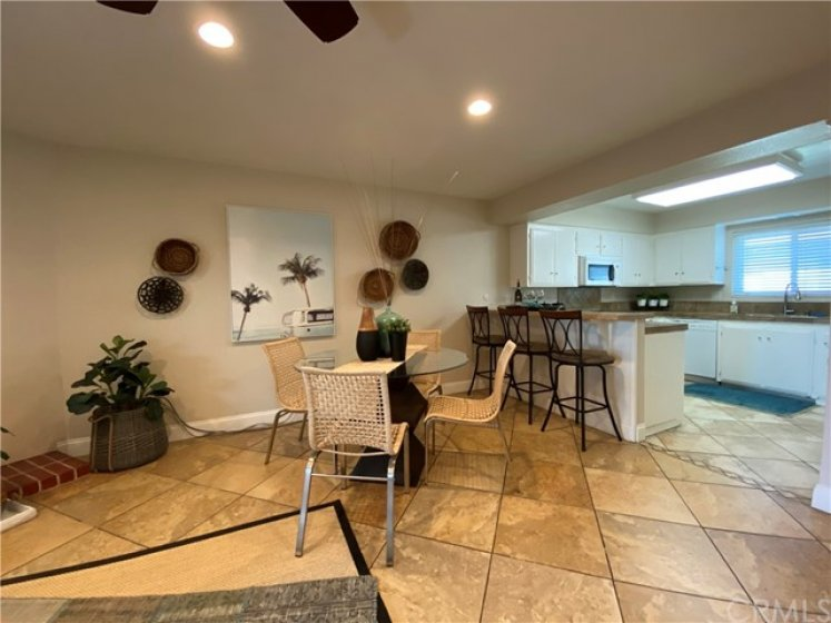 Tile Floors in the Entry, Living Room and Kitchen.