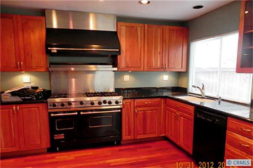 kitchen view/viking stove