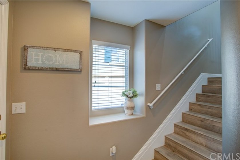Entry foyer view from garage direct access entry door