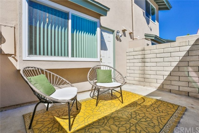 Your private back patio