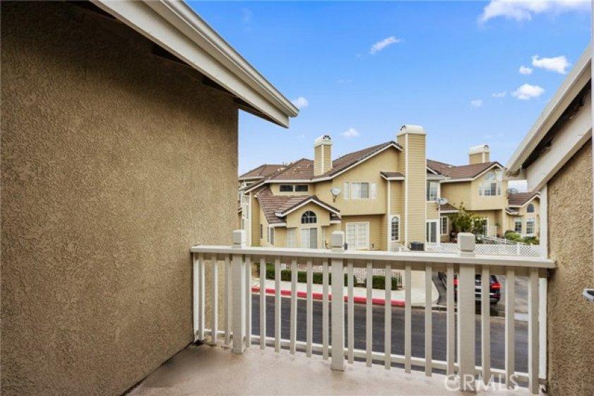 This is the balcony that overlooks the neighborhood