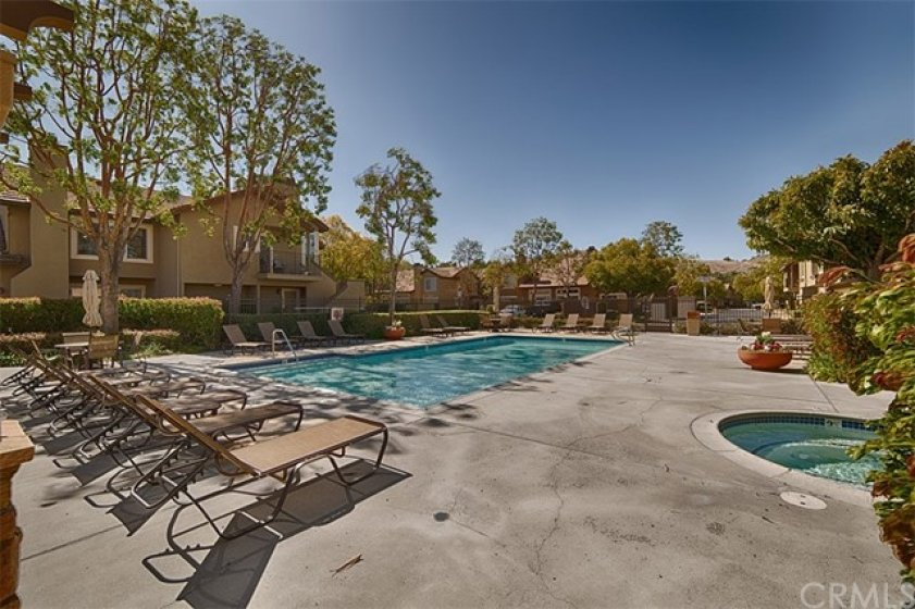 One of the two pools and spas in this HOA.