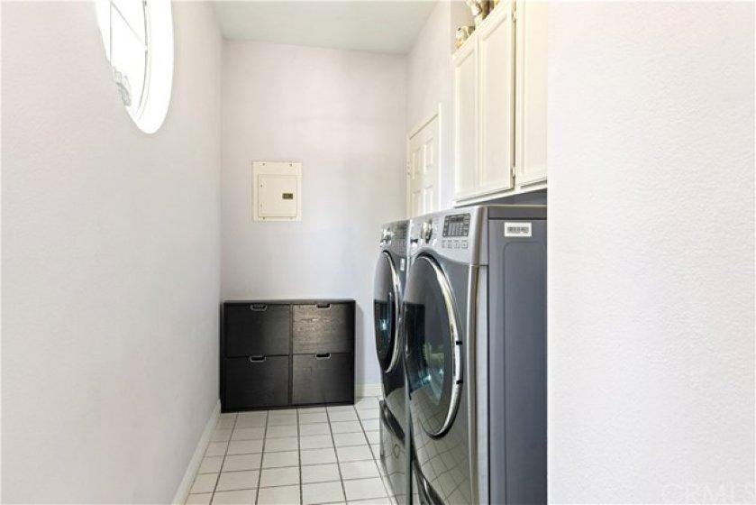 Large laundry room.
