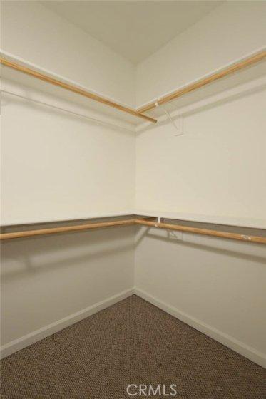 Walk-in closet in 2nd Bedroom
