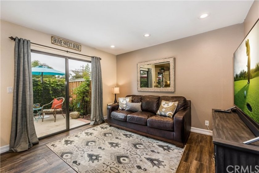Family room with access to the backyard