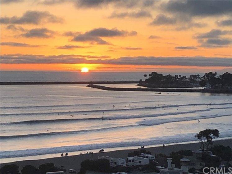 Magnificent sunset views