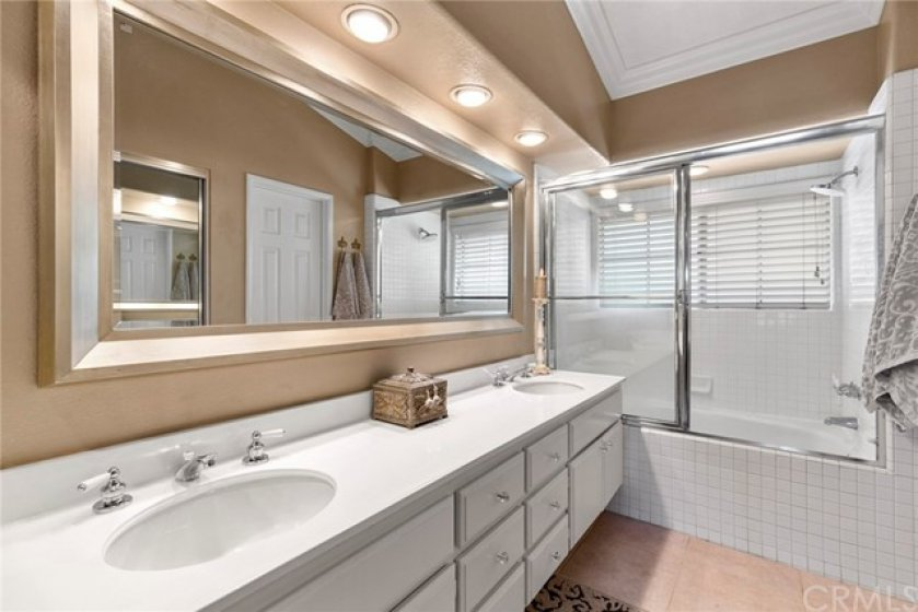 Recessed lighting and crown molding