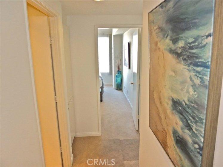 Hallway leading to ocean view bedrooms.