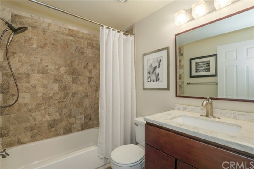 Upgraded Guest Bathroom located upstairs next to the bedrooms