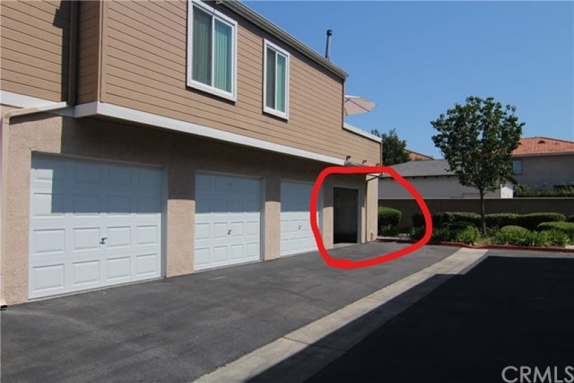 This will be your garage, very close to your front door