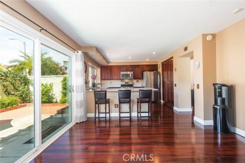 Open floor plan makes entertaining a breeze.