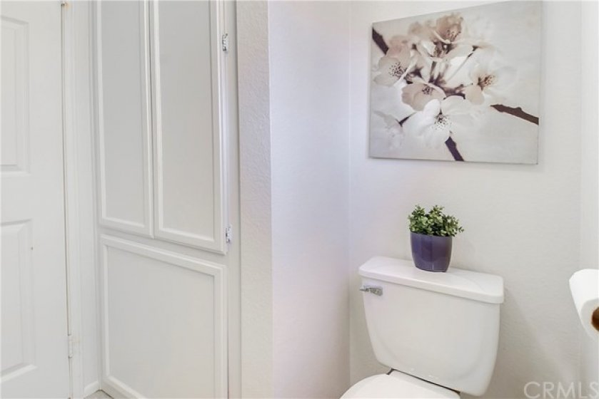 Master Bathroom offers lots of storage cabinets