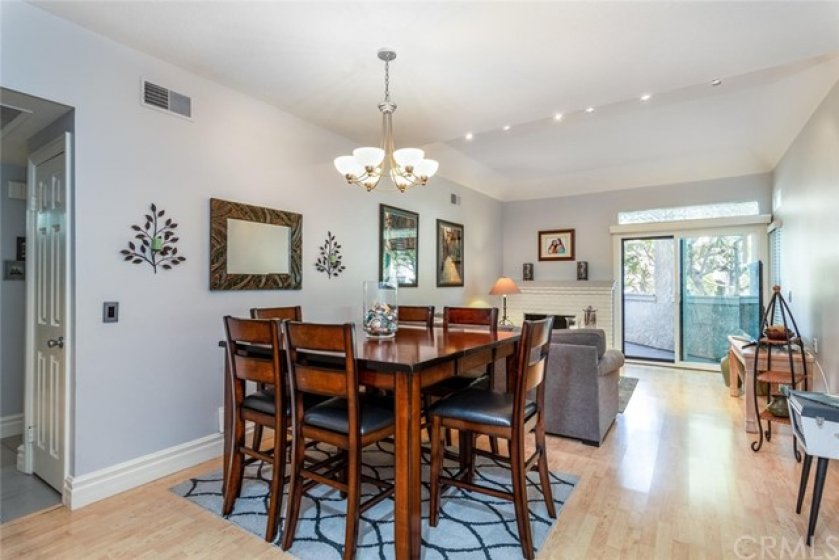 Open concept with dining room next to living room.