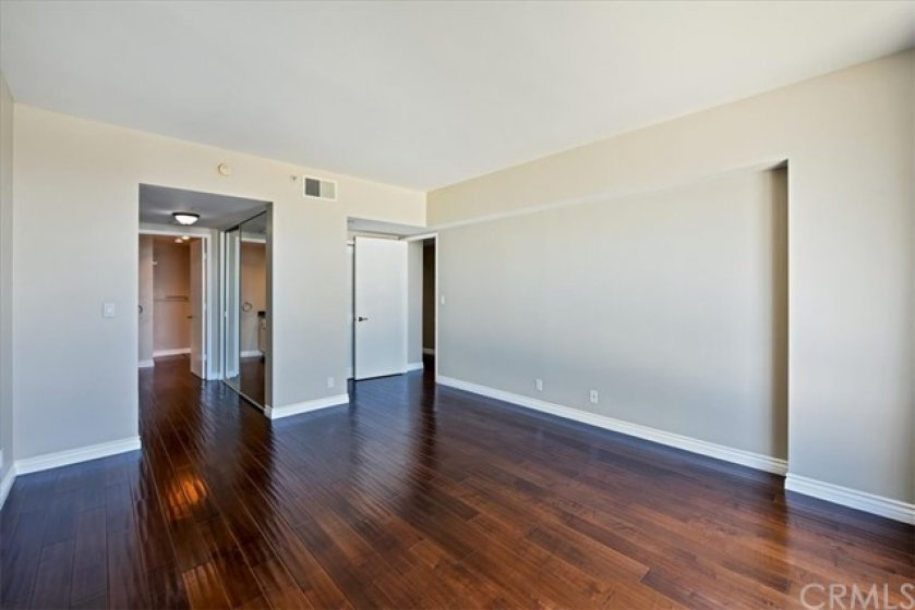 Master bedroom to the master bathroom