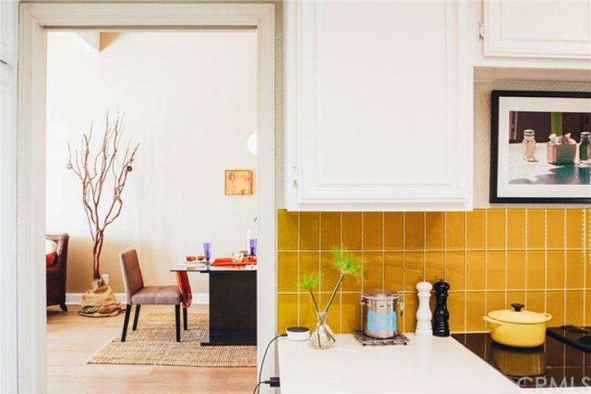 Kitchen opens to dining area ideal for entertaining