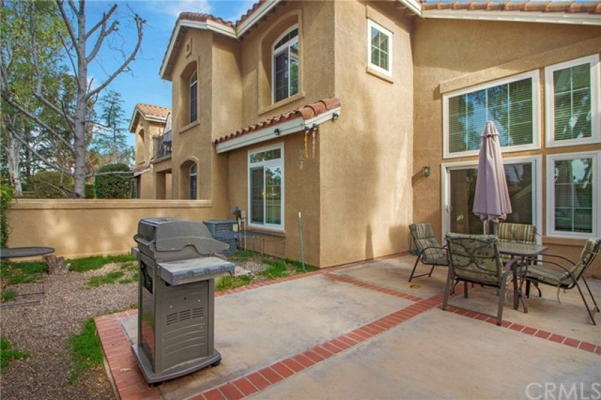 Oversized private patio / yard. One of the largest in the complex!