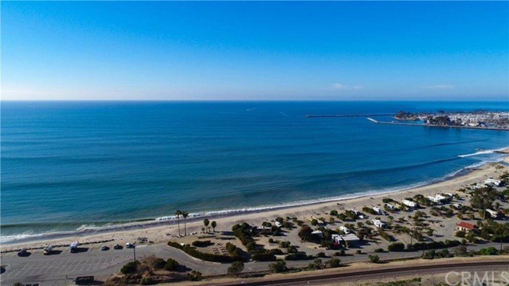 Aerial View of the coastline and Doheny State Beach