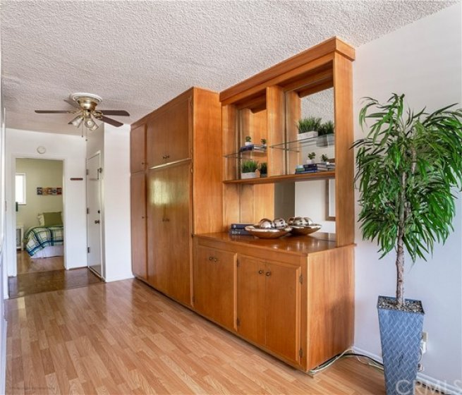 Built in cabinet in the entry way.