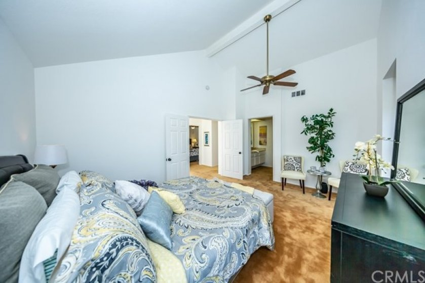Another angle of the spacious master bedroom.