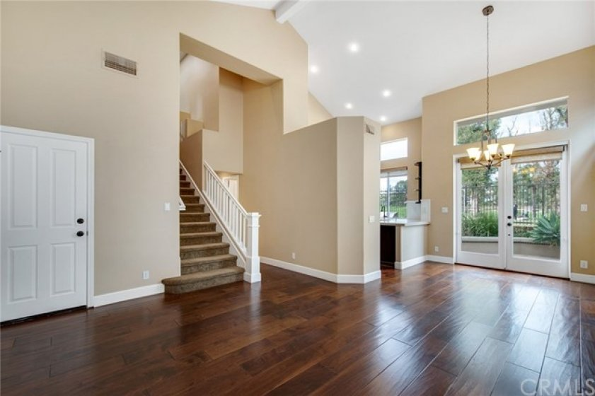 Beautiful distressed wood throughout the main level