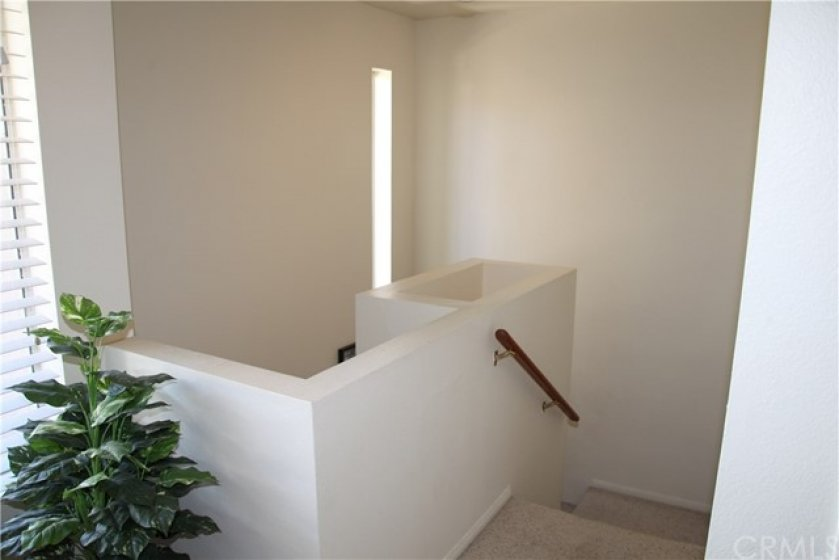 Stairwell from second story landing area