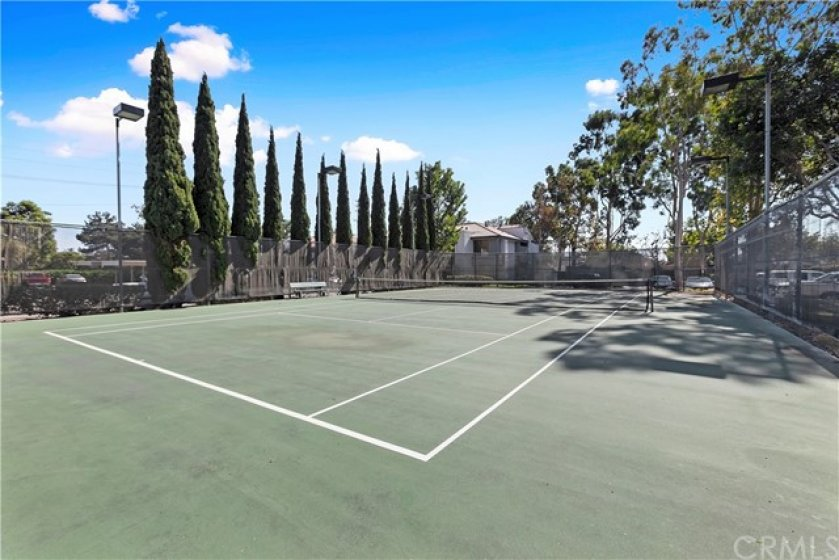 Private association tennis court.