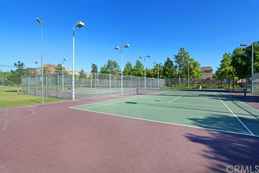 Another view of the Tennis Court.