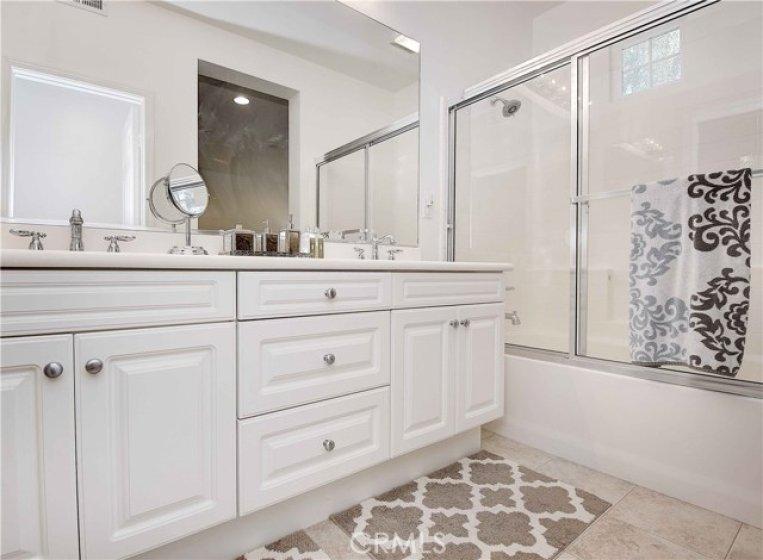 Master Bath with dual vanity.