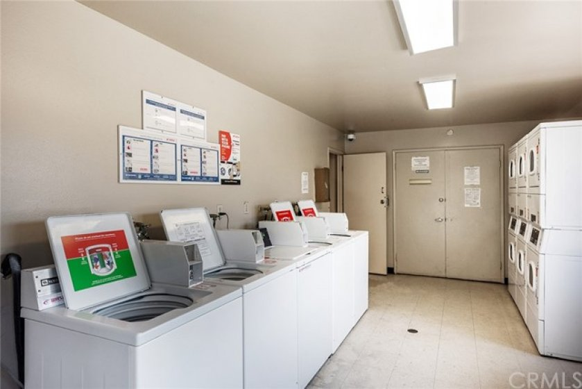Community laundry room. They are updated with pay from the app or coin opperated!