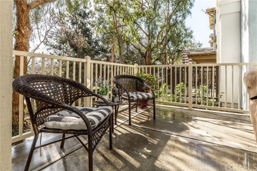 Nice size patio with plenty of space for seating and barbeque