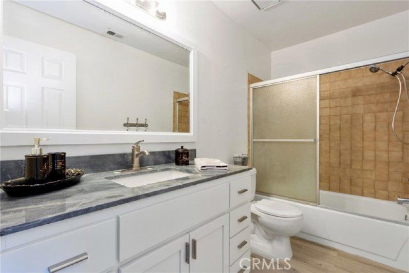 Updated upstairs bathroom.