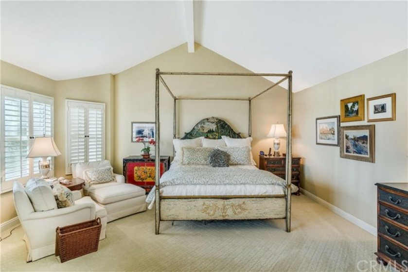 Spacious Master Bedroom Suite with gorgeous views overlooking the reservoir