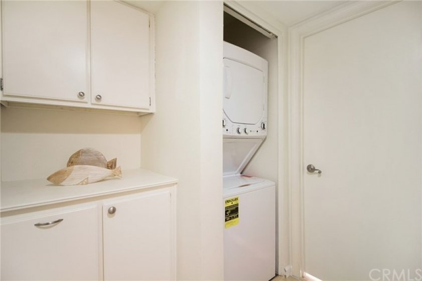 Linen Closet and Washer /Dryer Closet