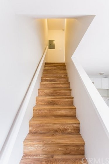 View of stairways up to 2nd level.