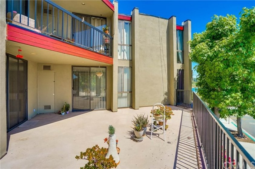 Unit #203 Patio with large footprint.
