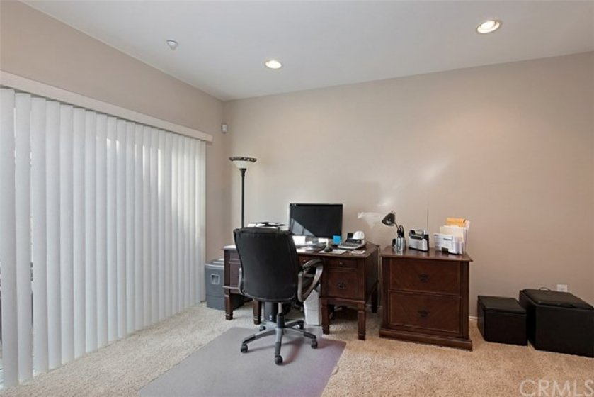 Large downstairs bedroom, currently being used as an office.