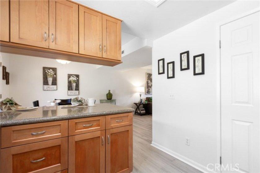 Granite counter tops and walk-in pantry.