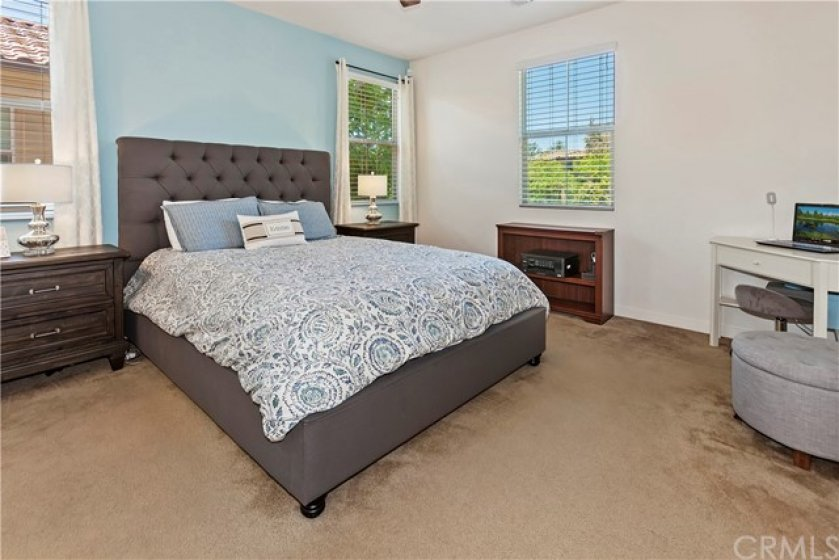 Master suite, windows on two sides.