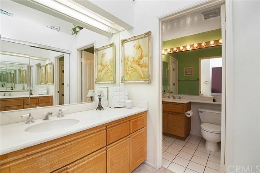 Master Suite vanity and upstairs bathroom