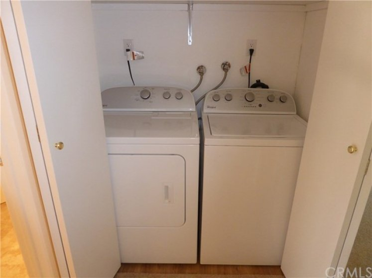 Subject Side by Side washer & Dryer Space.