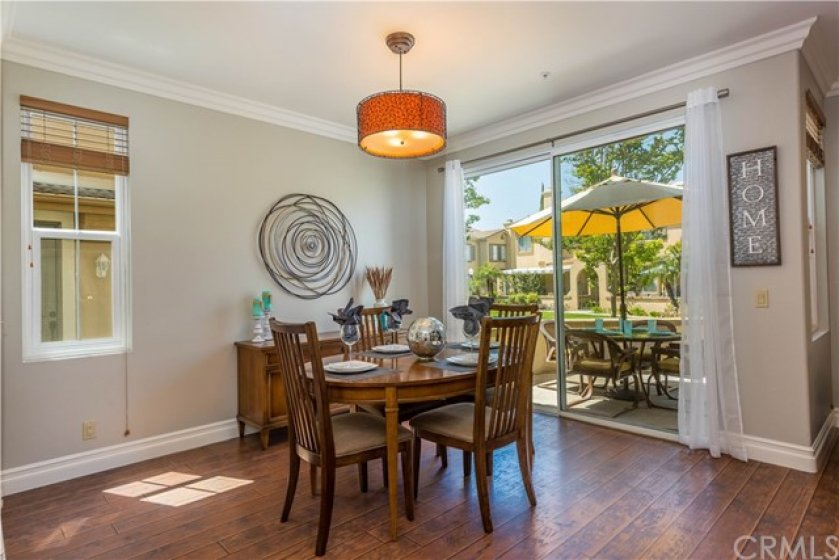 The dining area is large enough to host large family gatherings!