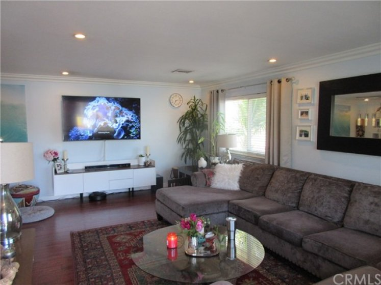 Large Living area with new Laminate wood floors