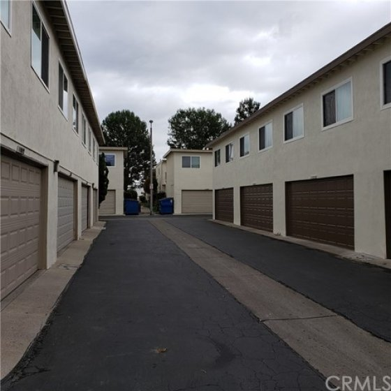 Alley where unit garage is located