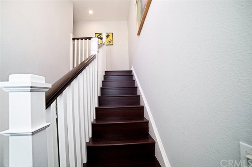 going upstairs to bedrooms
