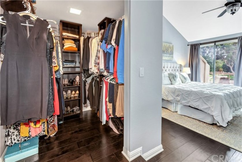 Walk-in Closet in master bedroom. It is very large!