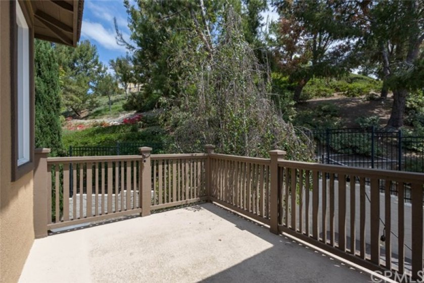 Great privacy at this end of the row property!  Perfect bbq deck.