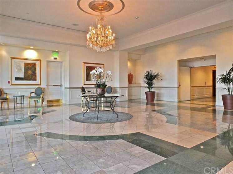 The lobby with take you directly to the elevators.