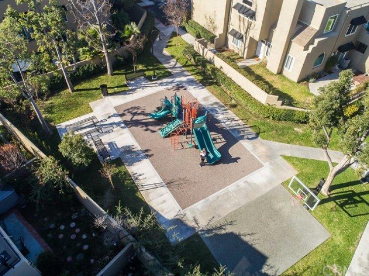 Playground and basketball court.